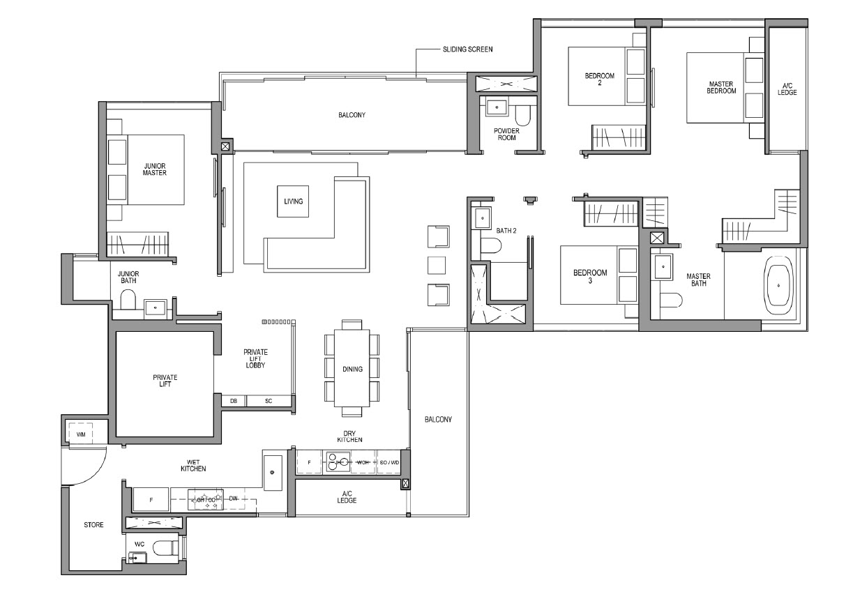 4 Bedroom Guocoland Floor Plan